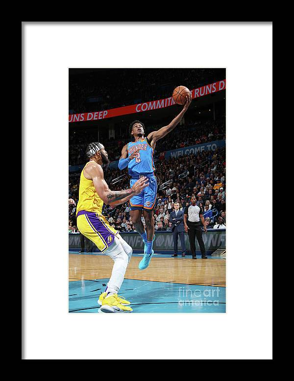 Nba Pro Basketball Framed Print featuring the photograph Los Angeles Lakers Vs Oklahoma City by Zach Beeker