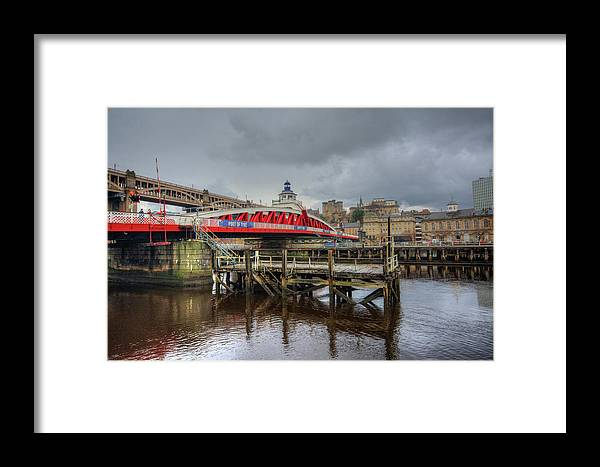Low Level Bridge Framed Print featuring the mixed media Low Level Bridge by Smart Aviation