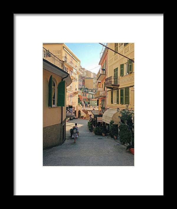 Toddler Framed Print featuring the photograph Manarola Italy by M Swiet Productions