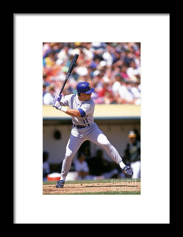 American League Baseball Framed Print featuring the photograph Mariners V Athletics by Otto Greule Jr