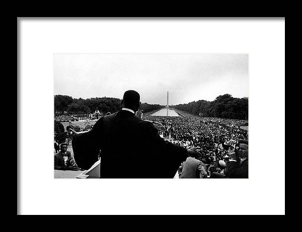 Martin Luther King Jr. Framed Print featuring the photograph Martin Luther King Jr by Paul Schutzer