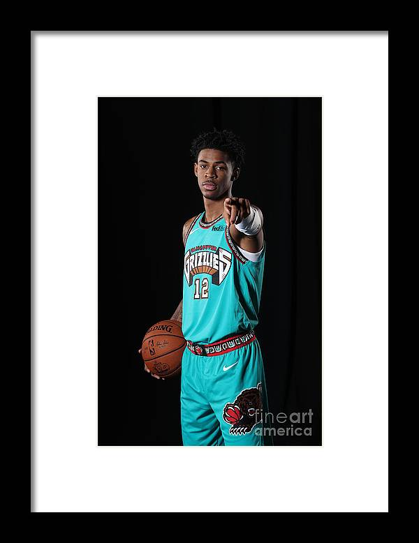 Nba Pro Basketball Framed Print featuring the photograph Memphis Grizzlies Portrait Shoot In by Joe Murphy
