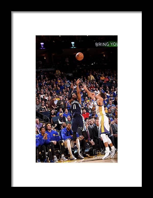 Nba Pro Basketball Framed Print featuring the photograph Memphis Grizzlies V Golden State by Noah Graham