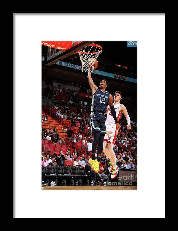 Nba Pro Basketball Framed Print featuring the photograph Memphis Grizzlies V Miami Heat by Issac Baldizon