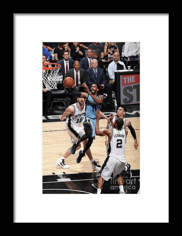 Playoffs Framed Print featuring the photograph Memphis Grizzlies V San Antonio Spurs - by Joe Murphy