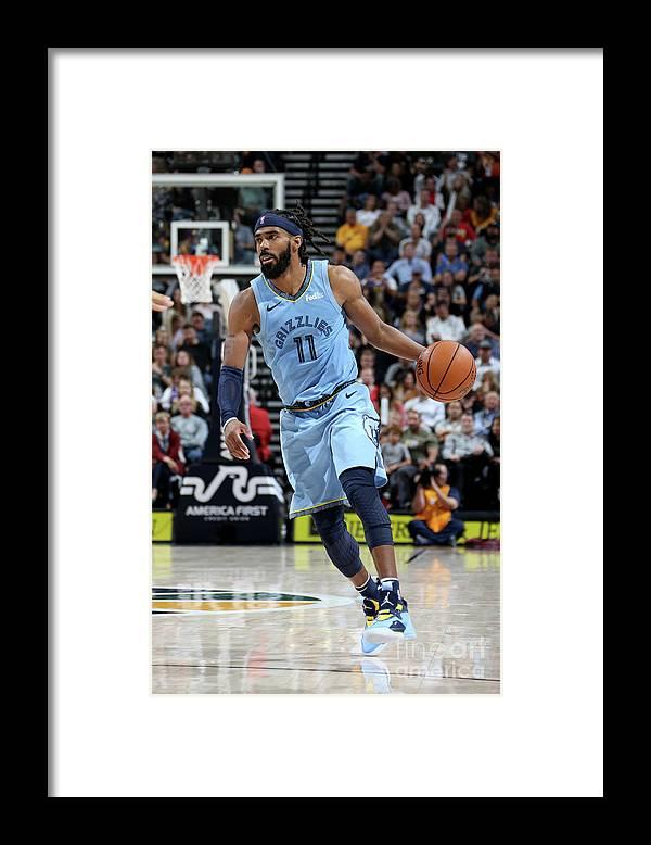 Nba Pro Basketball Framed Print featuring the photograph Memphis Grizzlies V Utah Jazz by Melissa Majchrzak