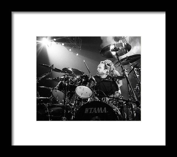 Music Framed Print featuring the photograph Metallica Live by Larry Hulst