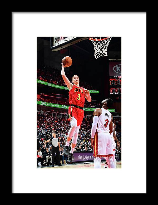 Atlanta Framed Print featuring the photograph Miami Heat V Atlanta Hawks by Scott Cunningham