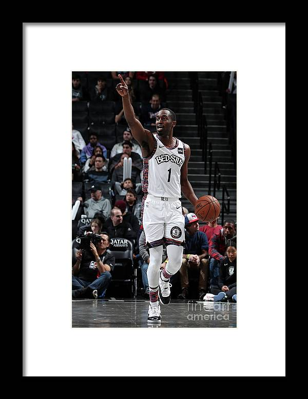 Nba Pro Basketball Framed Print featuring the photograph Miami Heat V Brooklyn Nets by Nathaniel S. Butler
