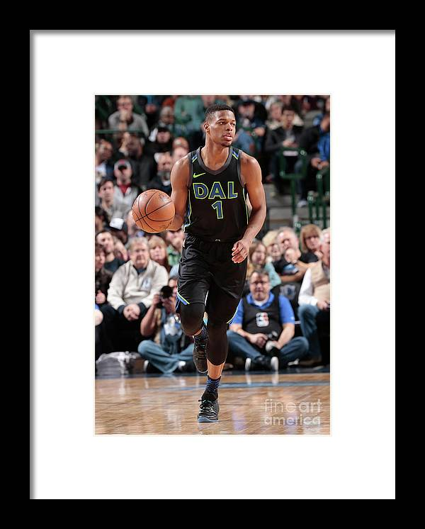 Nba Pro Basketball Framed Print featuring the photograph Miami Heat V Dallas Mavericks by Glenn James