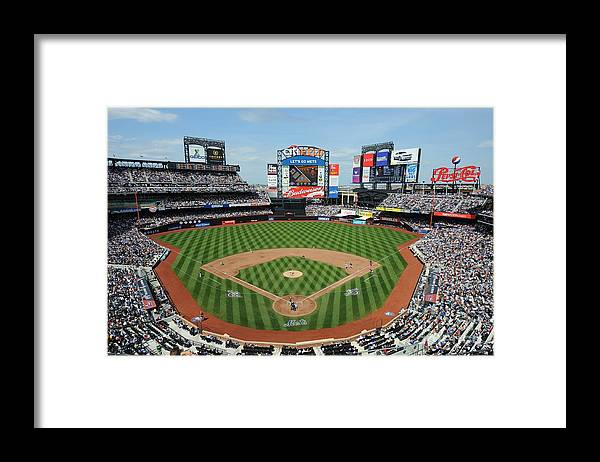 Citi Field Framed Print featuring the photograph Milwaukee Brewers V New York Mets by Rich Pilling