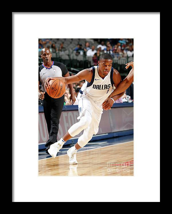 Nba Pro Basketball Framed Print featuring the photograph Milwaukee Bucks V Dallas Mavericks by Glenn James