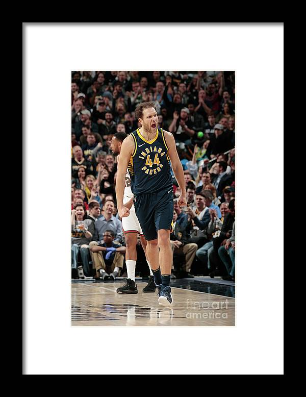 Nba Pro Basketball Framed Print featuring the photograph Milwaukee Bucks V Indiana Pacers by Ron Hoskins