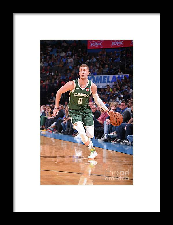 Nba Pro Basketball Framed Print featuring the photograph Milwaukee Bucks V Oklahoma City Thunder by Bill Baptist
