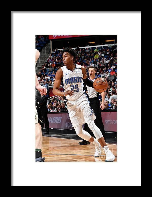 Nba Pro Basketball Framed Print featuring the photograph Milwaukee Bucks V Orlando Magic by Fernando Medina