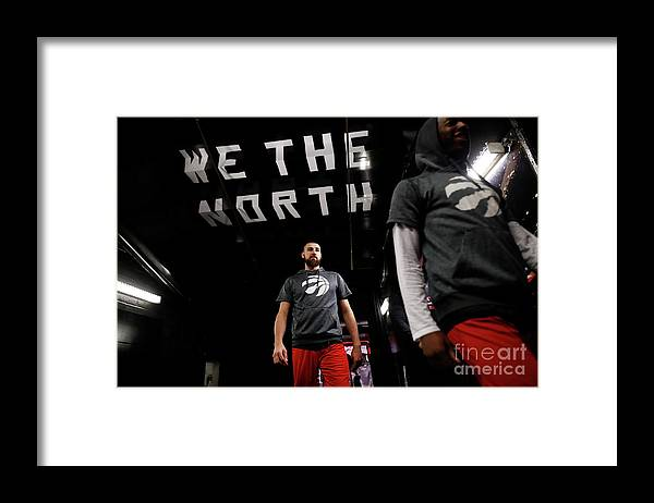 Playoffs Framed Print featuring the photograph Milwaukee Bucks V Toronto Raptors by Mark Blinch