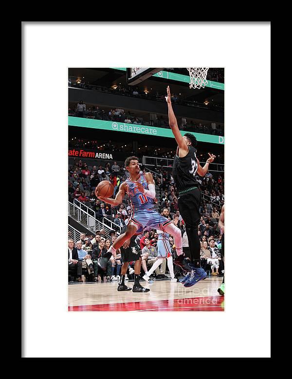 Atlanta Framed Print featuring the photograph Minnesota Timberwolves V Atlanta Hawks by Jasear Thompson