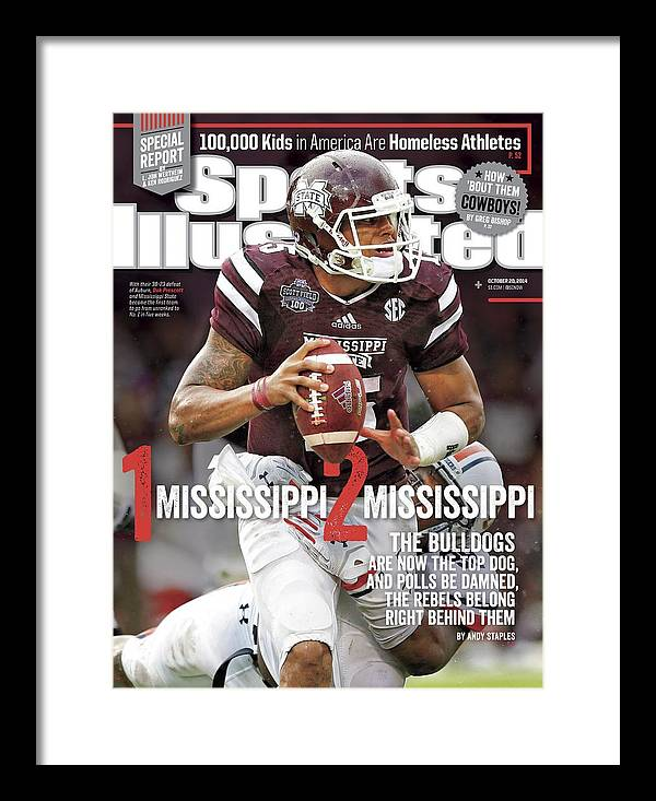 Magazine Cover Framed Print featuring the photograph 1 Mississippi, 2 Mississippi The Bulldogs Are Now The Top Sports Illustrated Cover by Sports Illustrated