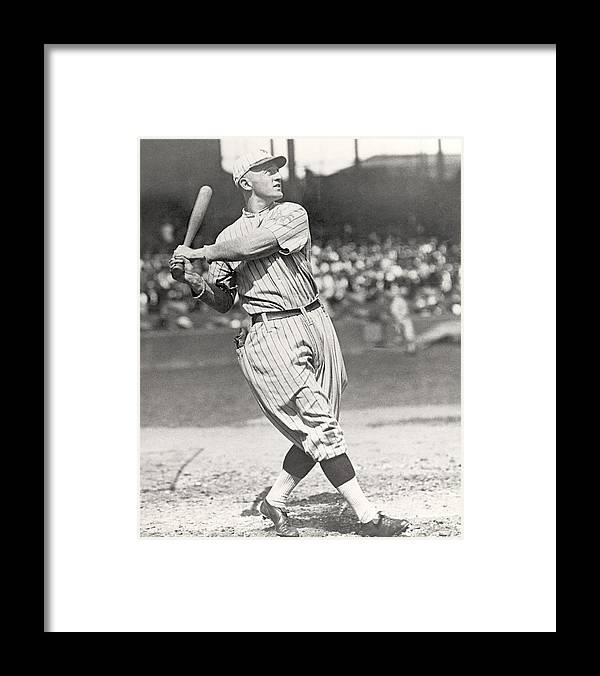 1910-1919 Framed Print featuring the photograph Mlb Photos Archive by Mlb Photos