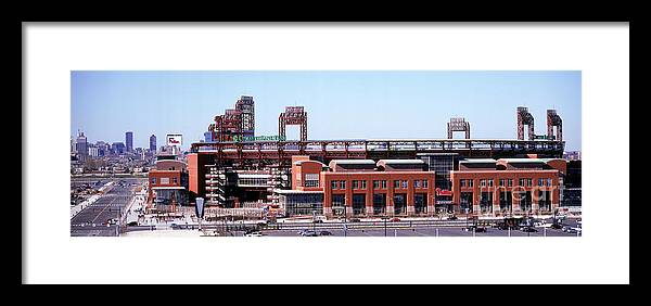 Citizens Bank Park Framed Print featuring the photograph Montreal Expos V Philadelphia Phillies by Jerry Driendl