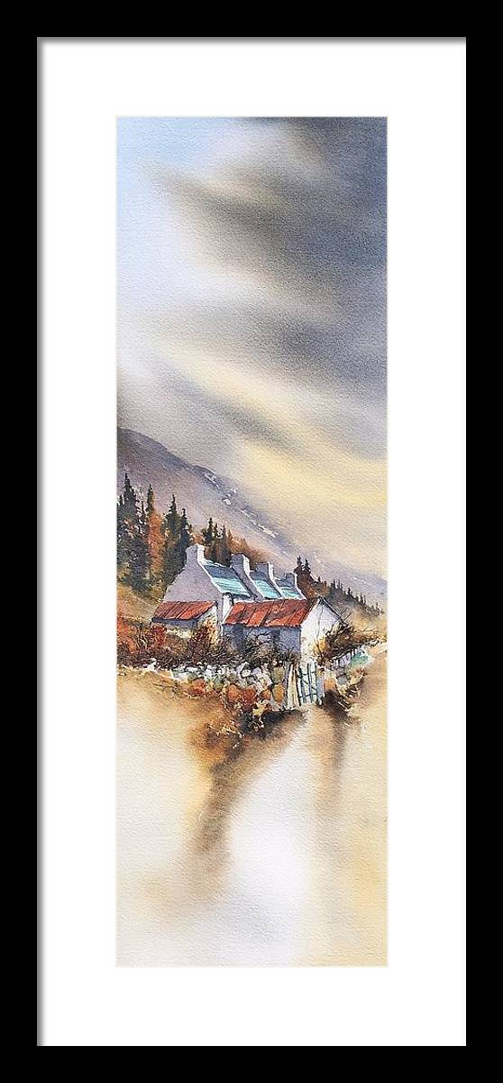 Ireland Framed Print featuring the painting Mountain House by Roland Byrne