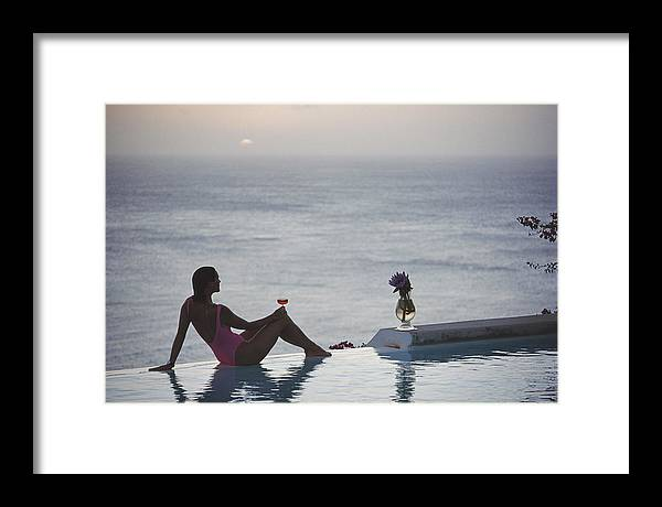 Tranquility Framed Print featuring the photograph Mustique Tranquility by Slim Aarons