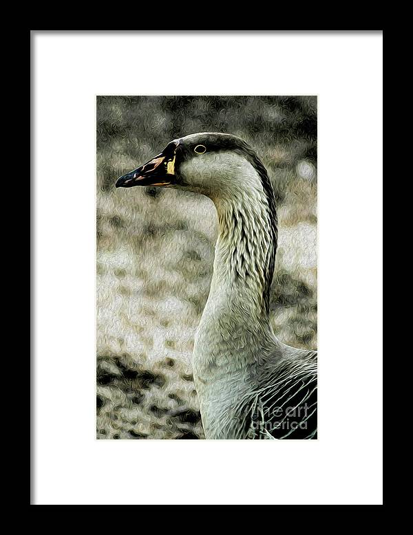 Archival Quality Prints Framed Print featuring the digital art My Good Side by Kenneth Montgomery