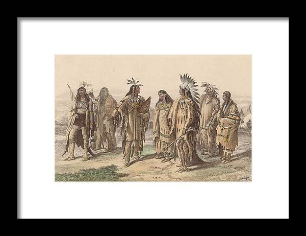 American Culture Framed Print featuring the digital art Native Americans by Hulton Archive