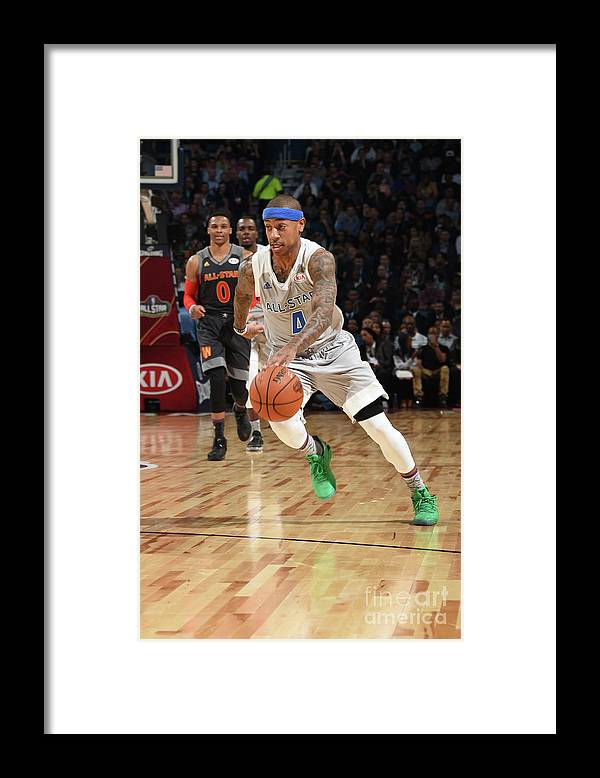 Event Framed Print featuring the photograph Nba All-star Game 2017 by Andrew D. Bernstein