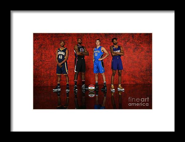 Smoothie King Center Framed Print featuring the photograph Nba All-star Portraits 2017 by Jesse D. Garrabrant