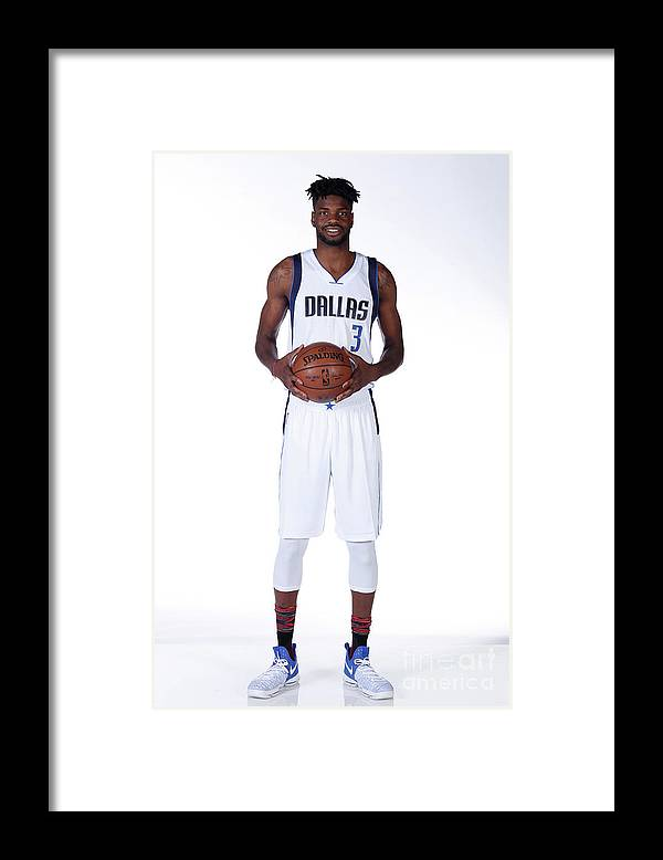 Nba Pro Basketball Framed Print featuring the photograph Nerlens Noel Dallas Mavericks Portraits by Glenn James