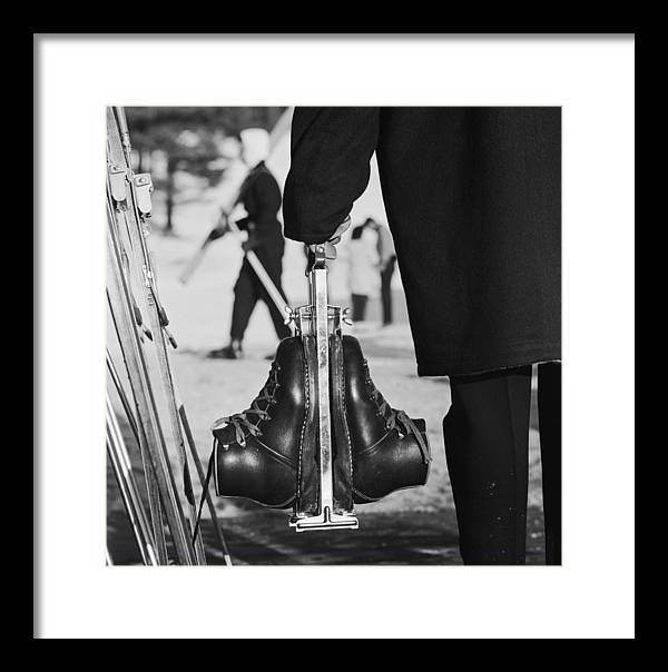 Skiing Framed Print featuring the photograph New England Skiing 1 by Slim Aarons