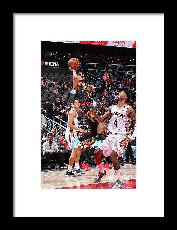 Atlanta Framed Print featuring the photograph New Orleans Pelicans V Atlanta Hawks by Jasear Thompson