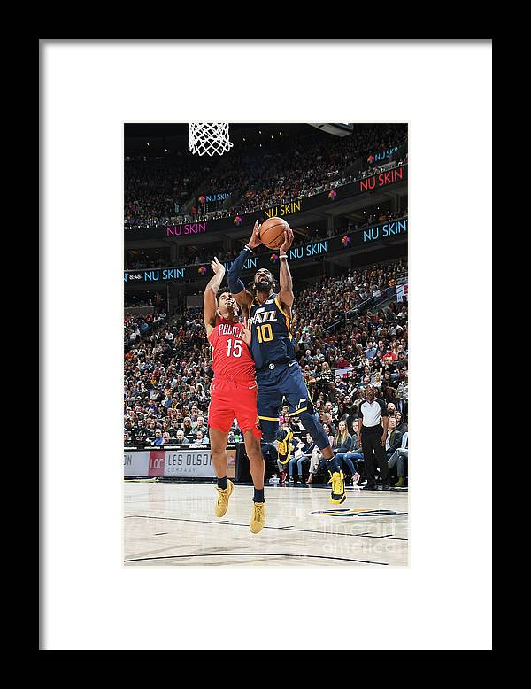 Nba Pro Basketball Framed Print featuring the photograph New Orleans Pelicans V Utah Jazz by Noah Graham