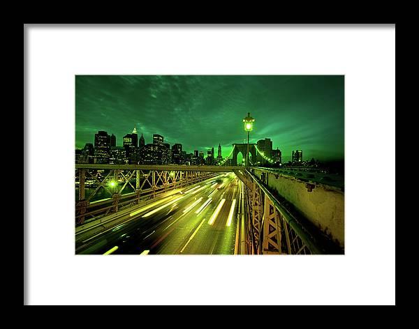 Scenics Framed Print featuring the photograph New York City Skyline by Nikada