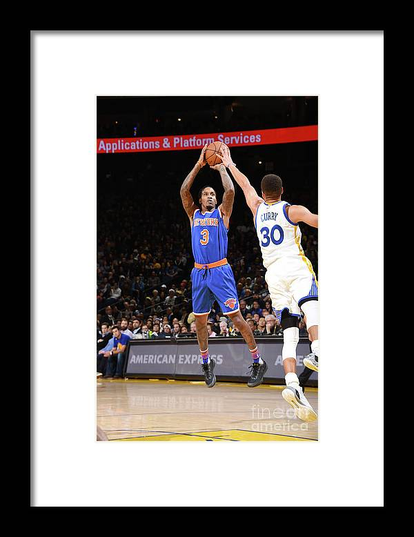 Nbaps Framed Print featuring the photograph New York Knicks V Golden State Warriors by Andrew D. Bernstein