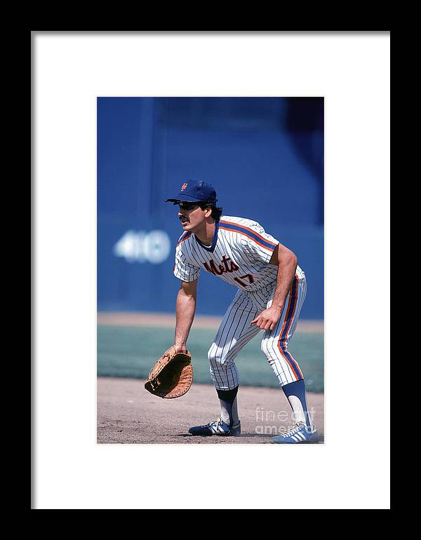 1980-1989 Framed Print featuring the photograph New York Mets 1 by Rich Pilling