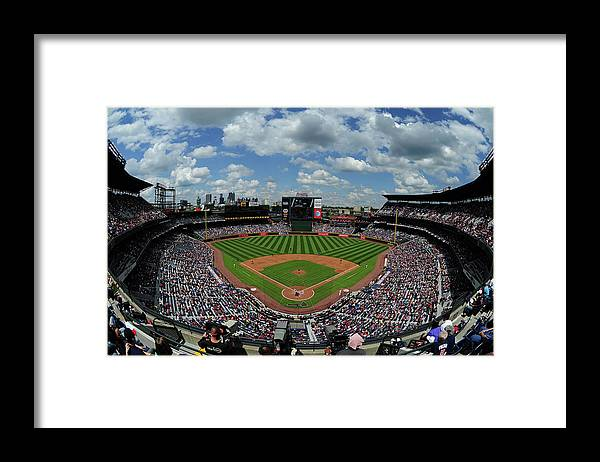 Atlanta Framed Print featuring the photograph New York Mets V Atlanta Braves by Scott Cunningham