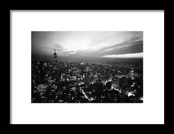 Sky Framed Print featuring the photograph New York Night Sky by Gerry Cranham