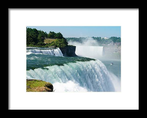 Scenics Framed Print featuring the photograph Niagara Falls From The Usa Side by Franckreporter