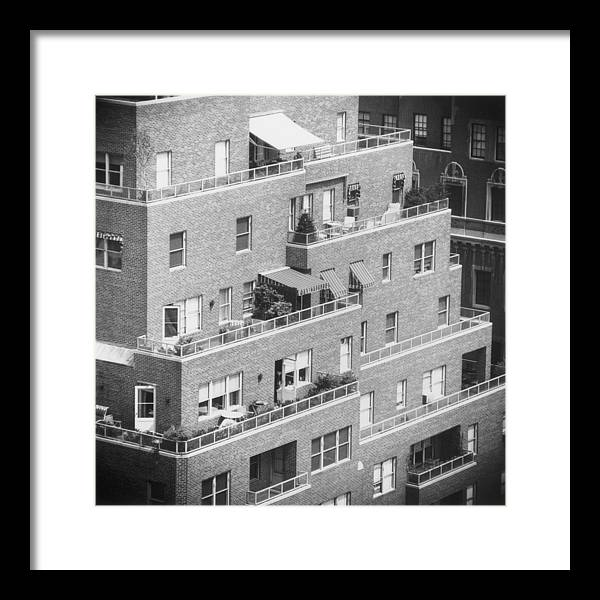 Park Lane Framed Print featuring the photograph Ny Apartments by Slim Aarons