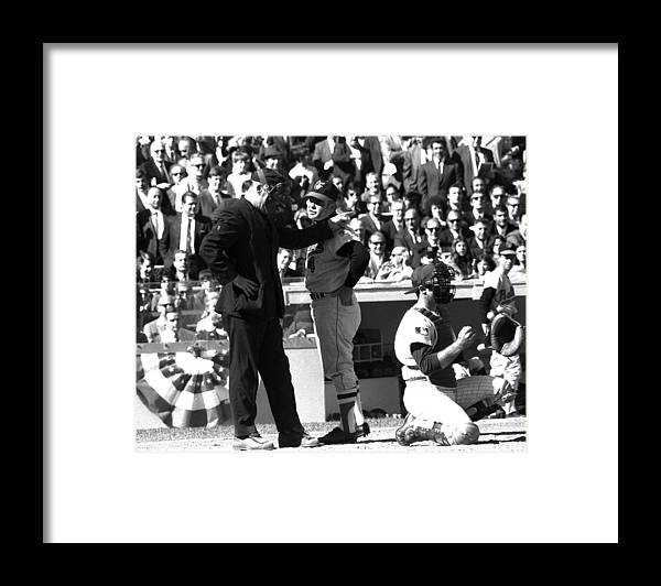 American League Baseball Framed Print featuring the photograph N.y. Mets Vs. Baltimore Orioles. 1969 by New York Daily News Archive