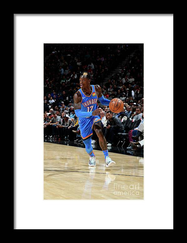 Nba Pro Basketball Framed Print featuring the photograph Oklahoma City Thunder V San Antonio by Logan Riely