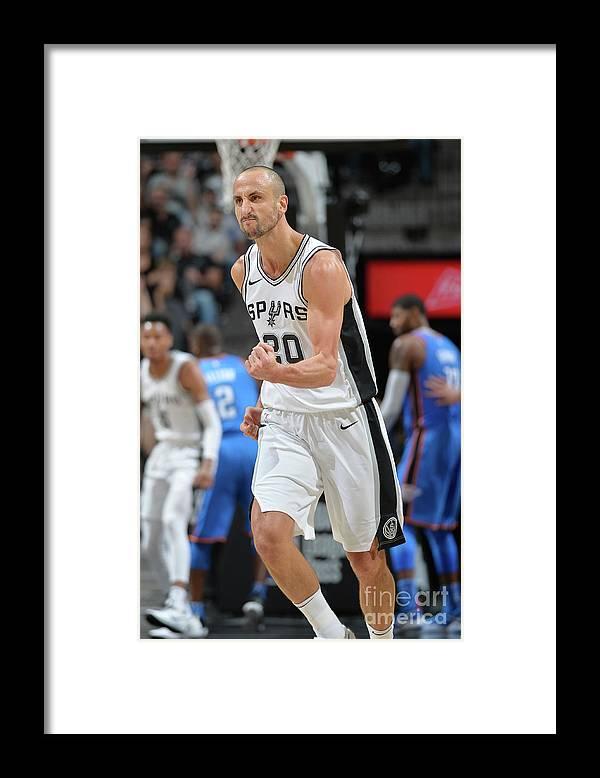 Nba Pro Basketball Framed Print featuring the photograph Oklahoma City Thunder V San Antonio by Mark Sobhani