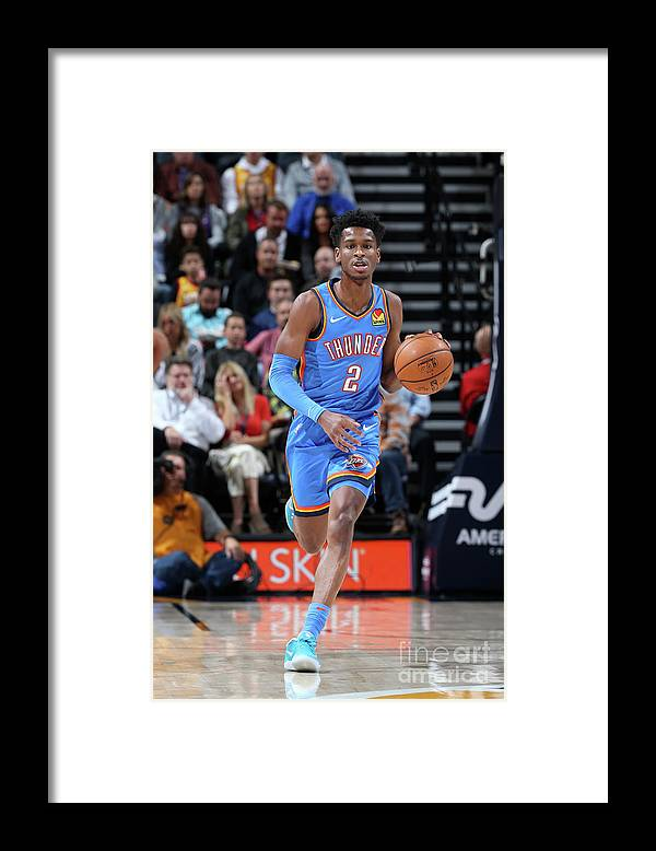 Nba Pro Basketball Framed Print featuring the photograph Oklahoma City Thunder V Utah Jazz by David Sherman