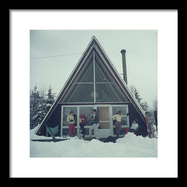 People Framed Print featuring the photograph On The Slopes In Stowe by Slim Aarons
