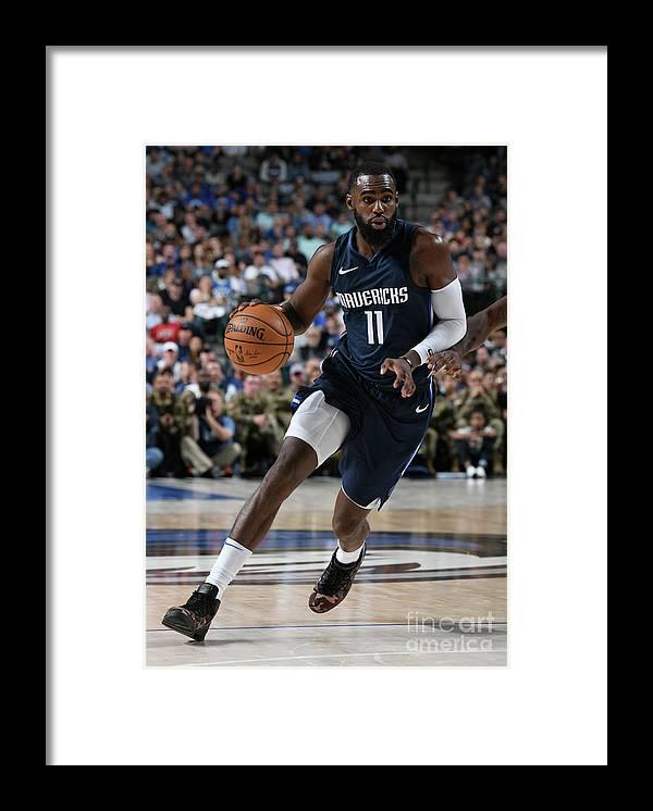 Tim Hardaway Jr. Framed Print featuring the photograph Orlando Magic V Dallas Mavericks by Glenn James
