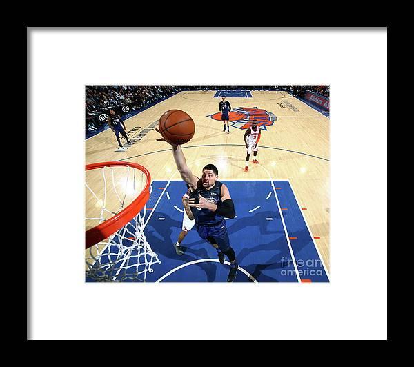 Nba Pro Basketball Framed Print featuring the photograph Orlando Magic V New York Knicks by Nathaniel S. Butler