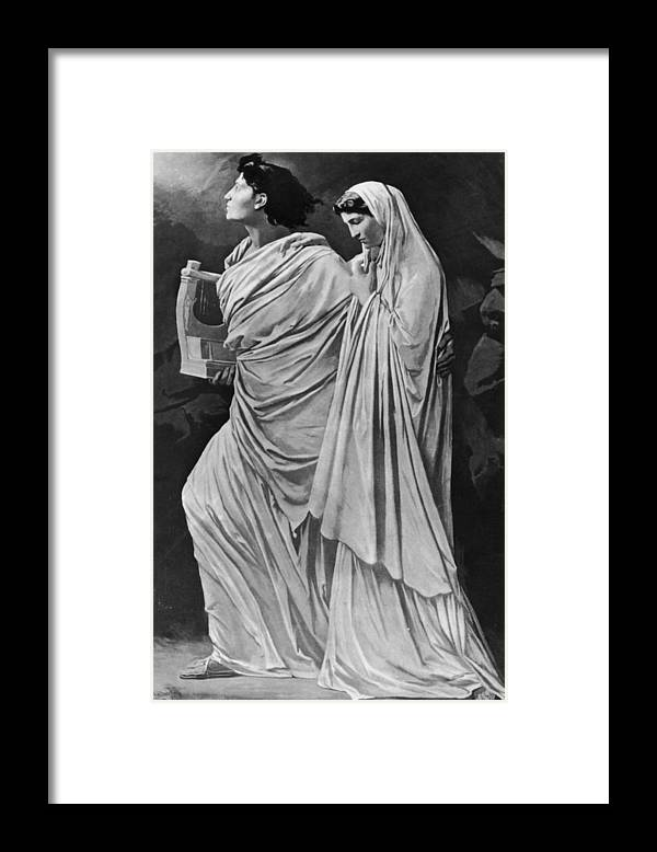 Greek Culture Framed Print featuring the photograph Orpheus And Eurydice by Hulton Archive