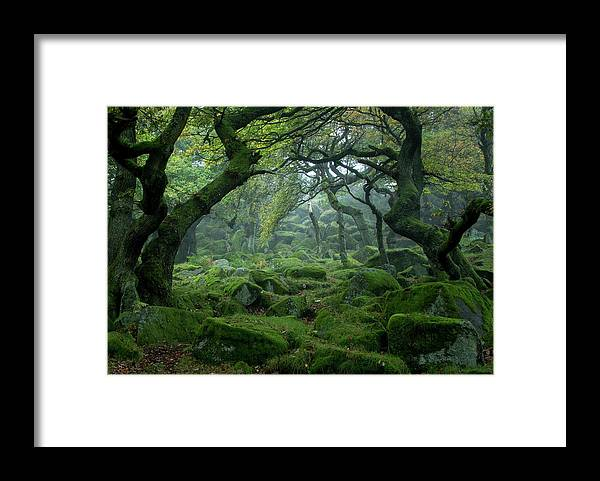 Tranquility Framed Print featuring the photograph Padley Gorge by Duncan Fawkes